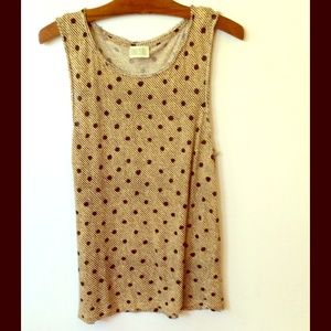 Diesel Tan/black dot Tunic Tank